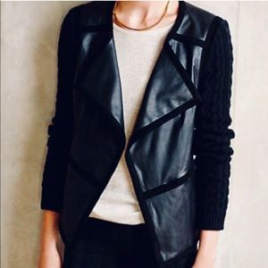 Elevenses hiroumi faux leather moto jacket